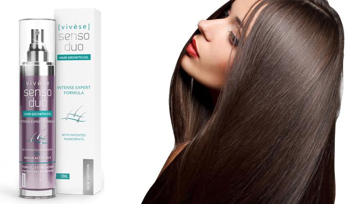 Vivese Senso Duo Oil: w 1 miesiąc wzmocnisz włosy, zatrzymasz ich wypadanie, a następnie zagęścisz włosy o 67%!