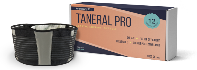 Taneral Pro: koniec ery bólu pleców!