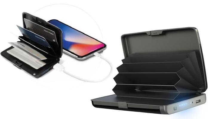 E-Charge Wallet: kompaktowy portfel, który może jednocześnie ładować telefon, bez względu na to, gdzie jesteś