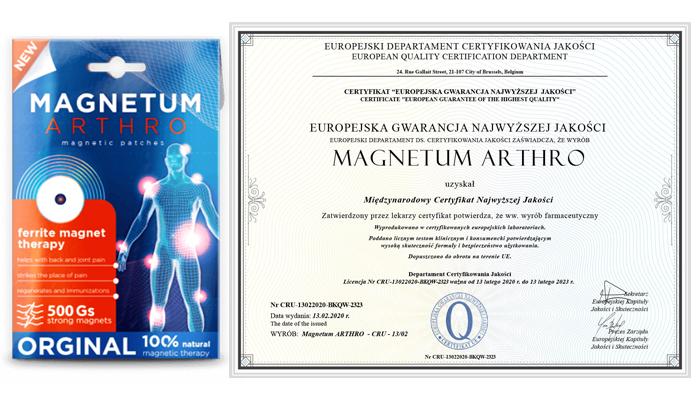 Magnetum Arthro plastry przeciwbólowe: eliminują nawet chroniczny ból trwający 20 lat!