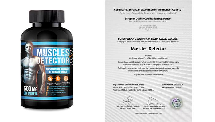 Muscles Detector zwiększyć masę mięśniową: sucha masa mięśniowa bez względu na wagę, wiek i styl życia
